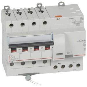 Disjoncteur différentiel DX³ 6000 - 4P - 400V~ - 40A - Type AC - 300mA LEGRAND