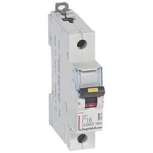 Disjoncteur DX³ 10000 - 16kA - 1P 230V~ à 400V~ - 16A - courbe C - 1 module LEGRAND