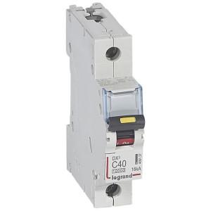 Disjoncteur DX³ 10000 - 16kA - 1P 230V~ à 400V~ - 40A - courbe C - 1 module LEGRAND
