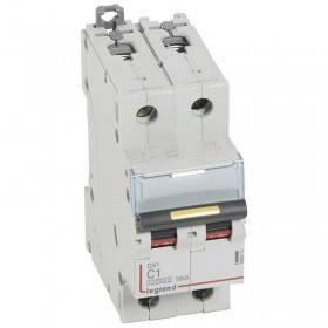 Disjoncteur DX³ 10000 - 16kA - 2P 230 à 400 V~ 1A - courbe C - 2 modules LEGRAND