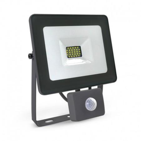 Projecteur extérieur LED plat 20W 6000°K avec détecteur - Gris VISION EL