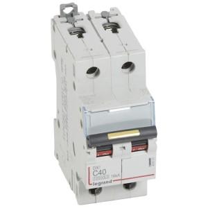 Disjoncteur DX³ 10000 - 16kA - 2P 230 à 400 V~ 40A - courbe C - 2 modules LEGRAND