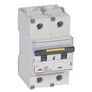 Disjoncteur DX³ 10000 - 16kA - 2P 230V~ à 400V~ - 80A - courbe C - 3 modules LEGRAND