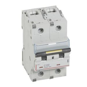 Disjoncteur DX³ 10000 - 16kA - 2P 230V~ à 400V~ - 100A - courbe C - 3 modules LEGRAND