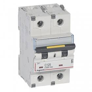 Disjoncteur DX³ 10000 - 16kA - 2P 230V~ à 400V~ - 125A - courbe C - 3 modules LEGRAND