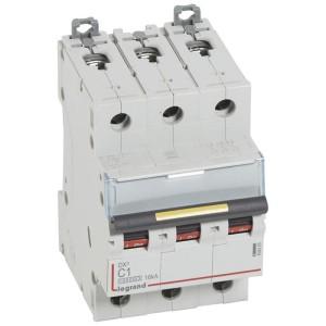 Disjoncteur DX³ 10000 - 16kA - 3P - 400V~ - 1A - courbe C - 3 modules LEGRAND