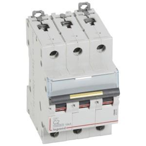 Disjoncteur DX³ 10000 - 16kA - 3P - 400V~ - 2A - courbe C - 3 modules LEGRAND
