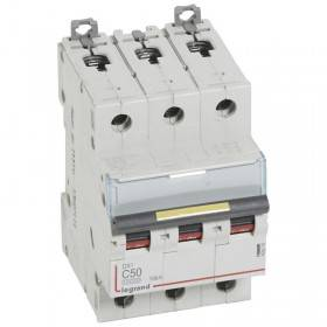 Disjoncteur DX³ 10000 - 16kA - 3P - 400V~ - 50A - courbe C - 3 modules LEGRAND