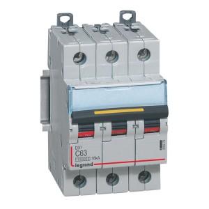 Disjoncteur DX³ 10000 - 16kA - 3P - 400V~ - 63A - courbe C - 3 modules LEGRAND