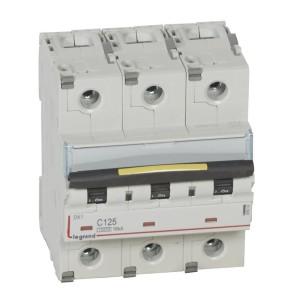 Disjoncteur DX³ 10000 - 16kA - 3P - 400V~ - 125A - courbe C - 4,5 modules LEGRAND