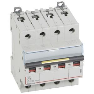 Disjoncteur DX³ 10000 - 16kA - 4P - 400V~ - 1A - courbe C - 4 modules LEGRAND