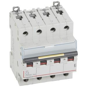 Disjoncteur DX³ 10000 - 16kA - 4P - 400V~ - 3A - courbe C - 4 modules LEGRAND