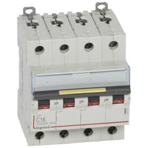 Disjoncteur DX³ 10000 - 16kA - 4P - 400V~ - 16A - courbe C - 4 modules LEGRAND