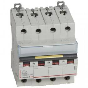 Disjoncteur DX³ 10000 - 16kA - 4P - 400V~ - 32A - courbe C - 4 modules LEGRAND
