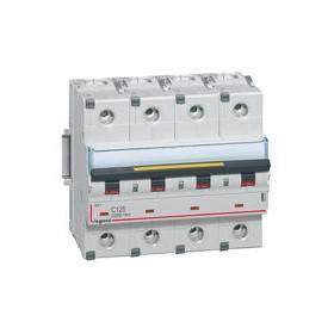 Disjoncteur DX³ 10000 - 16kA - 4P - 400V~ - 125A - courbe C - 6 modules LEGRAND