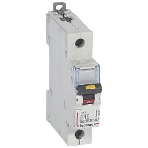 Disjoncteur DX³ 10000 - 16kA - 1P 230V~ à 400V~ - 16A - courbe B - 1 module LEGRAND