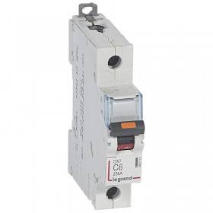 Disjoncteur DX³ 25kA - 1P 230V~ à 400V~ - 6A - courbe C - 1 module LEGRAND