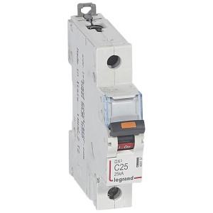 Disjoncteur DX³ 25kA - 1P 230V~ à 400V~ - 25A - courbe C - 1 module LEGRAND