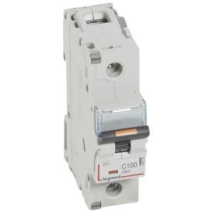 Disjoncteur DX³ 25kA - 1P 230V~ à 400V~ - 100A - courbe C - 1,5 module LEGRAND