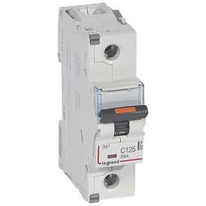 Disjoncteur DX³ 25kA - 1P 230V~ à 400V~ - 125A - courbe C - 1,5 module LEGRAND