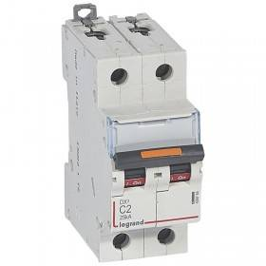 Disjoncteur DX³ 25kA - 2P 230V~ à 400V~ - 2A - courbe C - 2 modules LEGRAND
