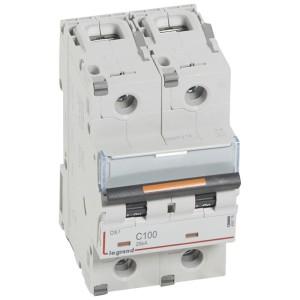 Disjoncteur DX³ 25kA - 2P 230V~ à 400V~ - 100A - courbe C - 3 modules LEGRAND