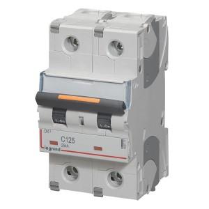 Disjoncteur DX³ 25kA - 2P 230V~ à 400V~ - 125A - courbe C - 3 modules LEGRAND