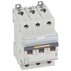 Disjoncteur DX³ 25kA - 3P 400V~ - 2A - courbe C - 3 modules LEGRAND