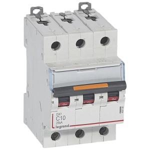 Disjoncteur DX³ 25kA - 3P 400V~ - 10A - courbe C - 3 modules LEGRAND