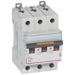 Disjoncteur DX³ 25kA - 3P 400V~ - 25A - courbe C - 3 modules LEGRAND