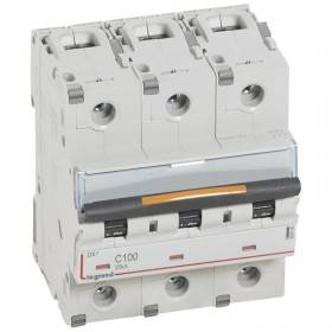 Disjoncteur DX³ 25kA - 3P 400V~ - 100A - courbe C - 4,5 modules LEGRAND