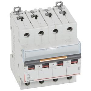 Disjoncteur DX³ 25kA - 4P 400V~ - 6A - courbe C - 4 modules LEGRAND