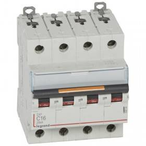 Disjoncteur DX³ 25kA - 4P 400V~ - 16A - courbe C - 4 modules LEGRAND