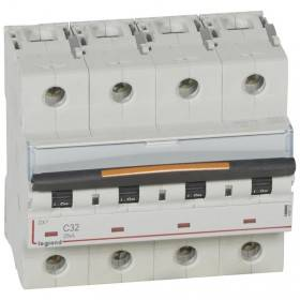 Disjoncteur DX³ 25kA - 4P 400V~ - 32A - courbe C - 6 modules LEGRAND