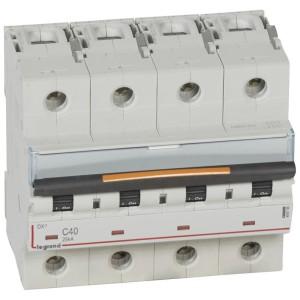Disjoncteur DX³ 25kA - 4P 400V~ - 40A - courbe C - 6 modules LEGRAND