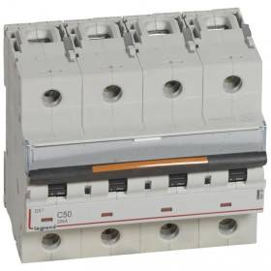 Disjoncteur DX³ 25kA - 4P 400V~ - 50A - courbe C - 6 modules LEGRAND