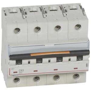 Disjoncteur DX³ 25kA - 4P 400V~ - 63A - courbe C - 6 modules LEGRAND
