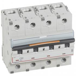 Disjoncteur DX³ 25kA - 4P 400V~ - 80A - courbe C - 6 modules LEGRAND