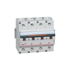 Disjoncteur DX³ 25kA - 4P 400V~ - 125A - courbe C - 6 modules LEGRAND