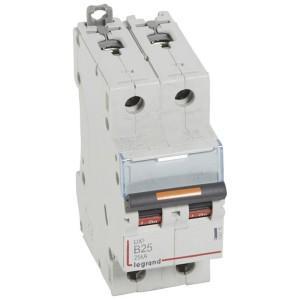 Disjoncteur DX³ 25kA - 2P 230V~ à 400V~ - 25A - courbe B - 2 modules LEGRAND