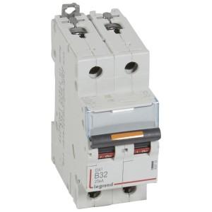 Disjoncteur DX³ 25kA - 2P 230V~ à 400V~ - 32A - courbe B - 2 modules LEGRAND