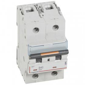 Disjoncteur DX³ 25kA - 2P 230V~ à 400V~ - 40A - courbe B - 3 modules LEGRAND