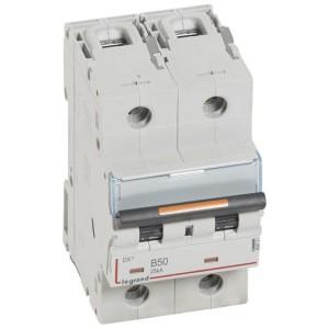Disjoncteur DX³ 25kA - 2P 230V~ à 400V~ - 50A - courbe B - 3 modules LEGRAND