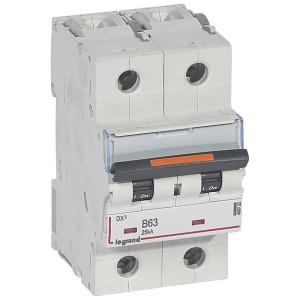 Disjoncteur DX³ 25kA - 2P 230V~ à 400V~ - 63A - courbe B - 3 modules LEGRAND