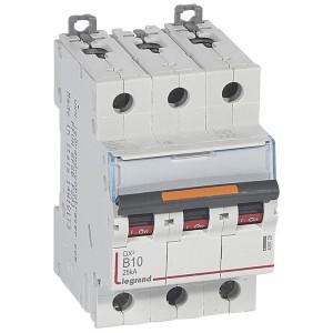 Disjoncteur DX³ 25kA - 3P 400V~ - 10A - courbe B - 3 modules LEGRAND