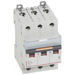 Disjoncteur DX³ 25kA - 3P 400V~ - 16A - courbe B - 3 modules LEGRAND