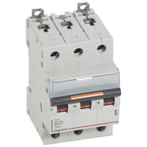 Disjoncteur DX³ 25kA - 3P 400V~ - 20A - courbe B - 3 modules LEGRAND