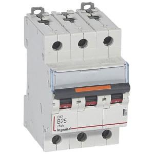 Disjoncteur DX³ 25kA - 3P 400V~ - 25A - courbe B - 3 modules LEGRAND