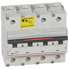 Disjoncteur DX³ 36kA - 4P 400V~ - 80A - courbe C - 6 modules LEGRAND