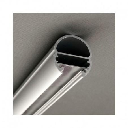 Profilé ovale aluminium anodisé 1m pour bandeaux LED VISION EL
